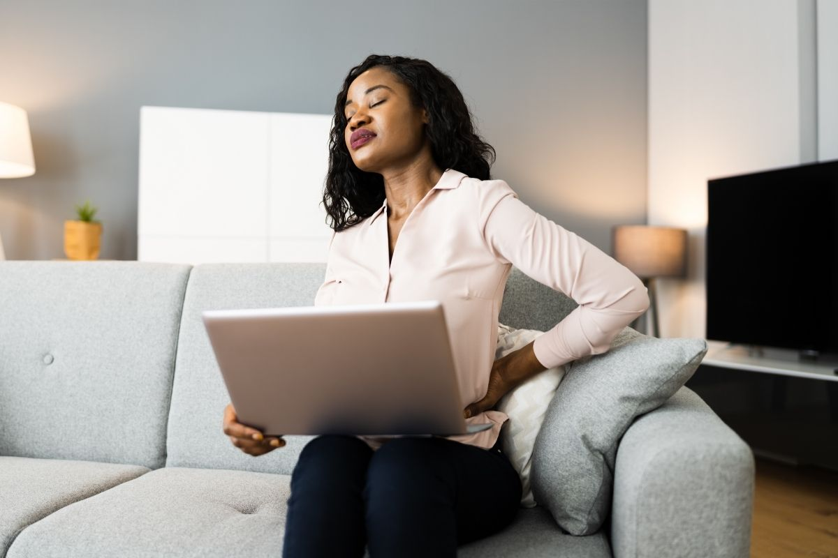 Your posture when you work on a laptop matters